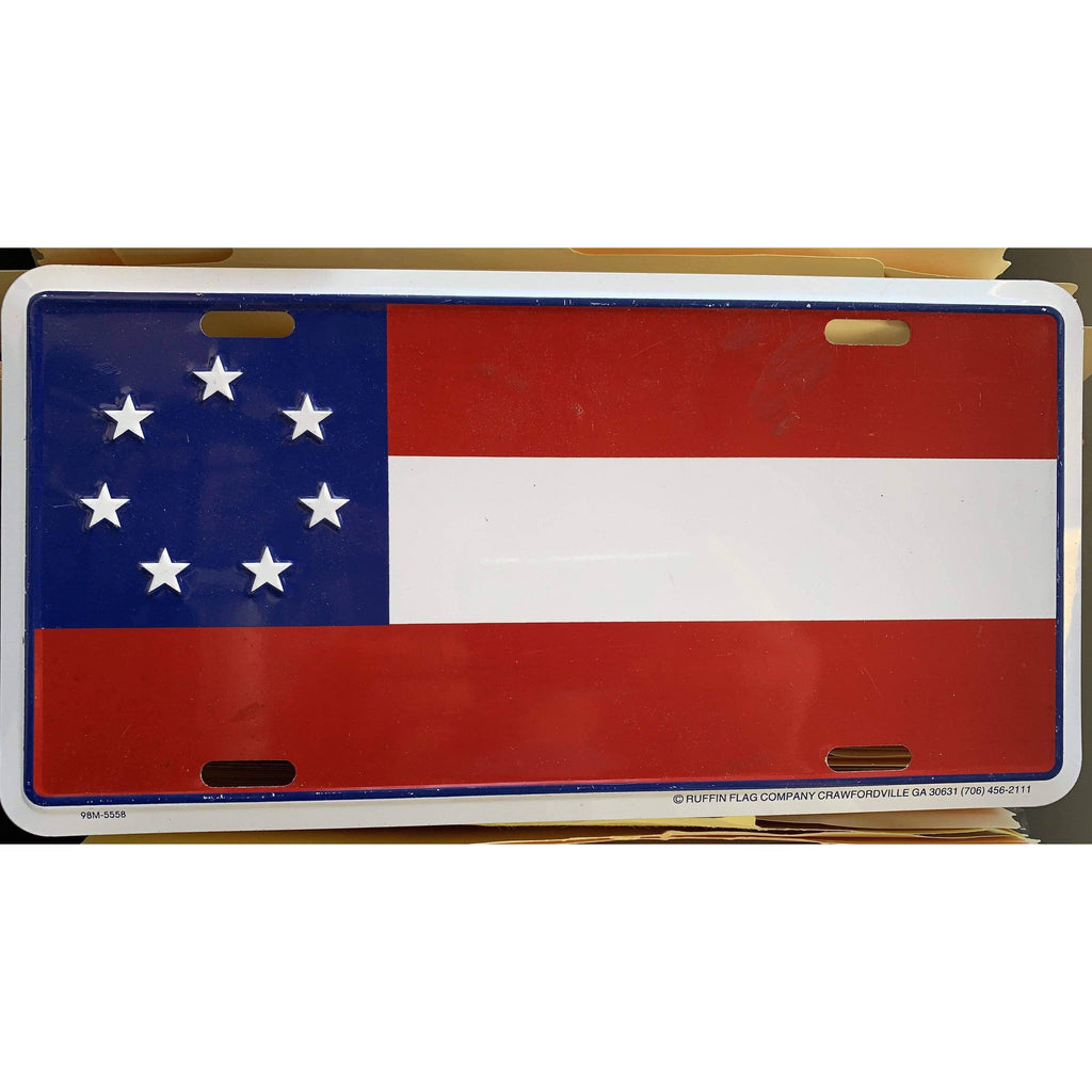 RU License Plate 7 Stars & Bars First National License Plate