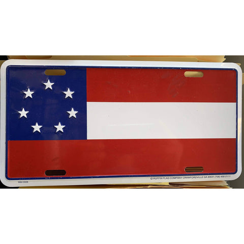 Image of RU License Plate 7 Stars & Bars First National License Plate