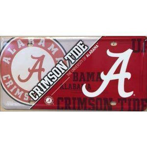 vendor-unknown License Plate Alabama  A  Crimson Tide College License Plate Tags