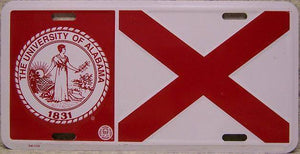 vendor-unknown License Plate Alabama University License Plate