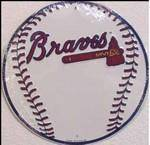 vendor-unknown License Plates and Metal Signs Atlanta Braves Circular Sign