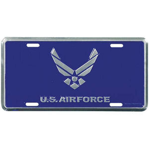 vendor-unknown License Plates and Metal Signs Blue Air Force Logo License Plate