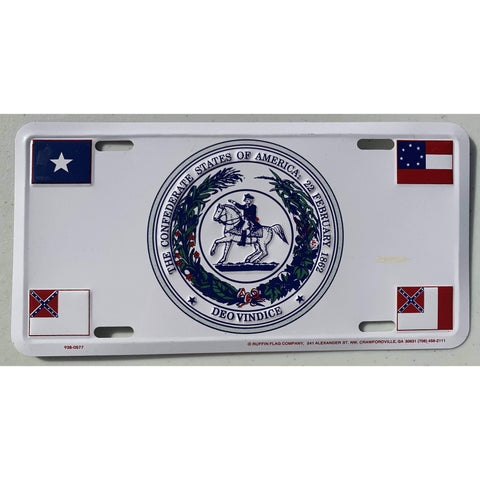 Image of vendor-unknown License Plates and Metal Signs CSA Seal 4 flags License Plate