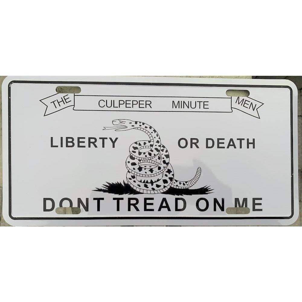 vendor-unknown License Plates and Metal Signs Culpeper Don't Tread on Me License Plate