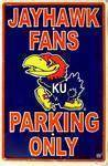 vendor-unknown License Plates and Metal Signs Kansas Jayhawks Fans Parking Only