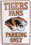 vendor-unknown License Plates and Metal Signs Missouri Tigers Fans Parking Only