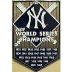vendor-unknown License Plates and Metal Signs NY New York Yankees Championship Sign