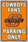 vendor-unknown License Plates and Metal Signs OSU Oklahoma State Cowboys Fans Parking Only