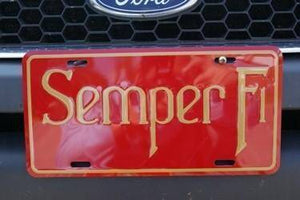 vendor-unknown License Plates and Metal Signs Semper Fi USMC License Plate