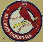 vendor-unknown License Plates and Metal Signs St Louis Cardinals Circular Sign