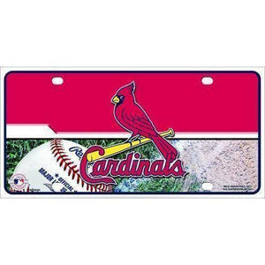 vendor-unknown License Plates and Metal Signs St Louis Cardinals MLB Chrome License Plate