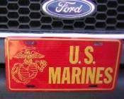 vendor-unknown License Plates and Metal Signs USMC Marines Logo License Plate