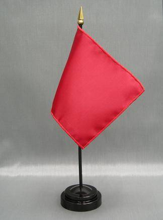RU Made In The USA 4 Inch X 6 Inch Solid Color Mounted Nylon Flag (Mounted on Plastic Staff)