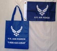 vendor-unknown Military Flags Air Force Shopping Bag with Flag