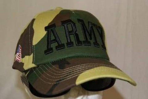 vendor-unknown Military Flags Army Camo Letters Cap