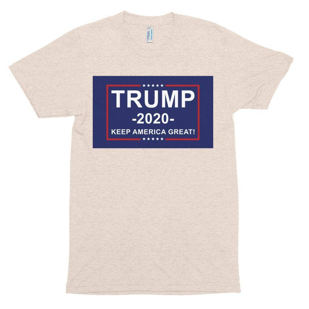 Trump 2020 Keep America Great Athletic Unisex Tri-Blend Track Shirt Made In Usa T-Shirt