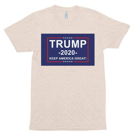 Image of Trump 2020 Keep America Great Athletic Unisex Tri-Blend Track Shirt Made In Usa T-Shirt