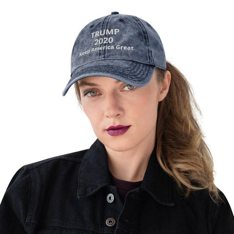 Image of Vintage Cotton Twill Cap Navy