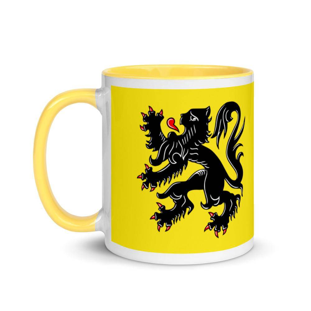 Flanders flag Mug with yellow Inside