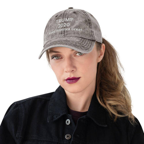 Image of Vintage Cotton Twill Cap Charcoal Grey