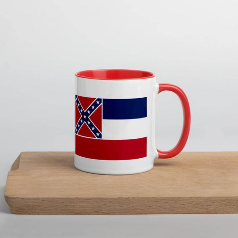 Image of Mississippi Flag Mug with Color Inside
