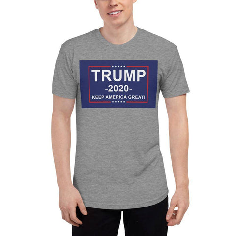 Image of Trump 2020 Keep America Great Athletic Unisex Tri-Blend Track Shirt Made In Usa Grey / Xs T-Shirt