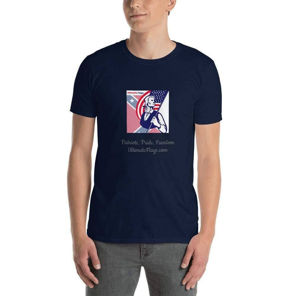 Ultimate Flags Navy / S Ultimate Flags Logo Short-Sleeve Unisex T-Shirt Patriots, Pride, Freedom