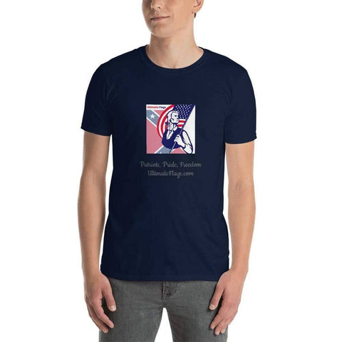 Image of Ultimate Flags Navy / S Ultimate Flags Logo Short-Sleeve Unisex T-Shirt Patriots, Pride, Freedom