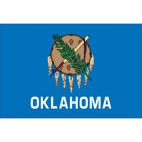State of Oklahoma Flag Outdoor Commercial  3 X 5 ft Made in USA