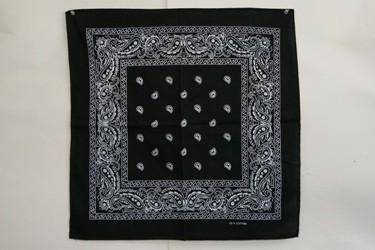 vendor-unknown Other Cool Flag Items Black Paisley Bandana