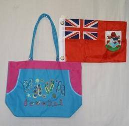 vendor-unknown Other Cool Flag Items Blue Bermuda Beach Bag