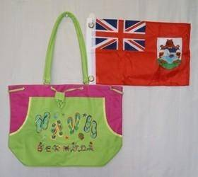 vendor-unknown Other Cool Flag Items Green Bermuda Beach Bag