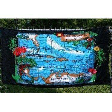 vendor-unknown Other Cool Flag Items Islands of Paradise Beach Towel