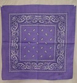 vendor-unknown Other Cool Flag Items Lavander Paisley Bandana