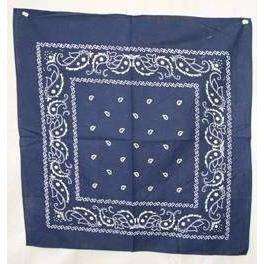 vendor-unknown Other Cool Flag Items Navy Blue Paisley Bandana