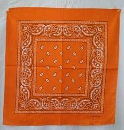 vendor-unknown Other Cool Flag Items Orange Paisley Bandana