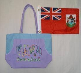 vendor-unknown Other Cool Flag Items Purple Bermuda Beach Bag