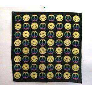 vendor-unknown Other Cool Flag Items Smile and Peace Bandana
