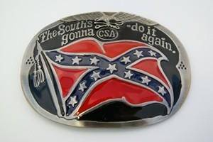 vendor-unknown Other Cool Flag Items South's Gonna Do It Again Belt Buckle