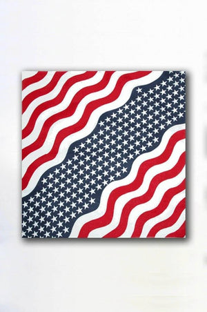 vendor-unknown Other Cool Flag Items Wavy USA Bandana