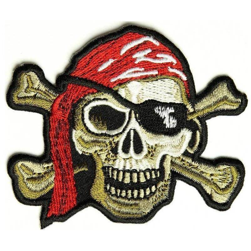 TCP Patch Pirate Skull Patch Red Hat - Eye Patch - 2 x 3 inch