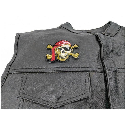 Image of TCP Patch Pirate Skull Patch Red Hat - Eye Patch - 2 x 3 inch
