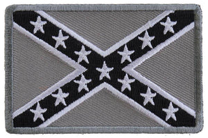 TCP Patch Rebel Flag Subdued Patch -Grey - Confederate Battle Flag Patch - 2 x 3 inch