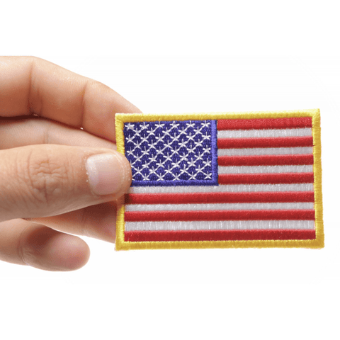 Image of TCP Patch US Flag Patch Small 3 Inch - 2 x 3 inch 50 Star American Flag