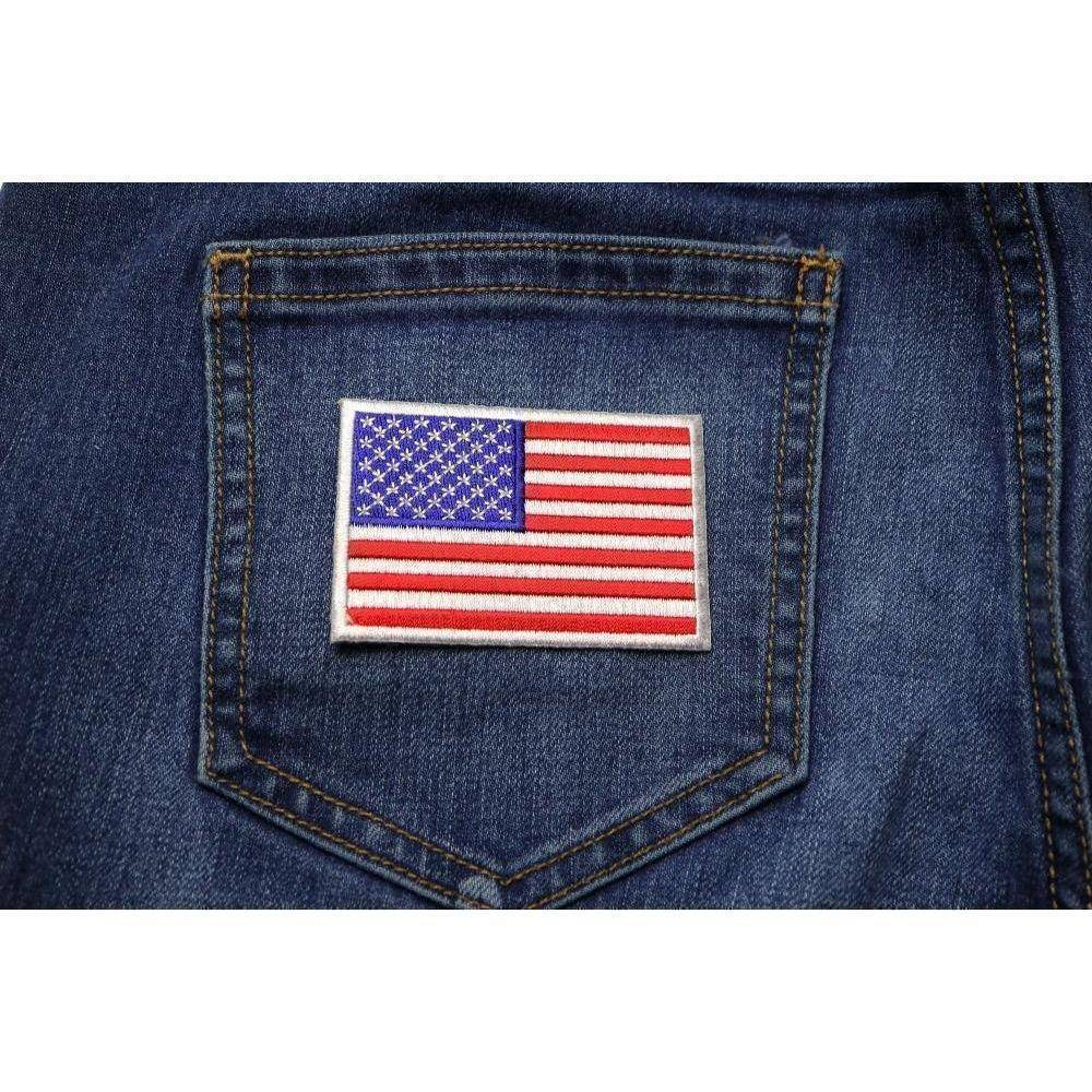 TCP Patch US Flag Patch Small 3 Inch - 2 x 3 inch 50 Star American Flag