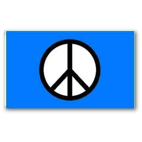 Peace Sign Flag Blue 3X5 Ft Economical Flags