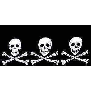vendor-unknown Pirate Flags (Jolly Roger Flags) 3 Skulls Jolly Roger Pirate Flag 2 X 3 ft. Junior