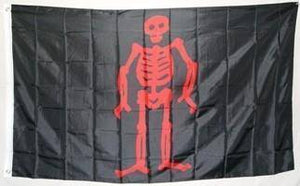 vendor-unknown Pirate Flags (Jolly Roger Flags) 3x5 Pirate Edward Low, Red Skeleton Flag 3 X 5 ft. Standard