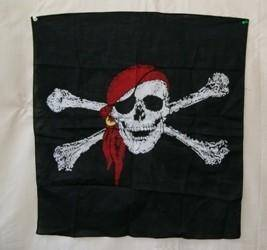vendor-unknown Pirate Flags (Jolly Roger Flags) Large Pirate Red Hat Bandana