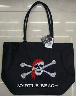 vendor-unknown Pirate Flags (Jolly Roger Flags) Myrtle Beach Pirate Beach Bag